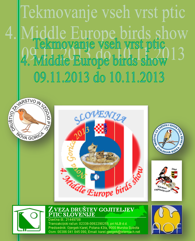Middle Europe Birds Show